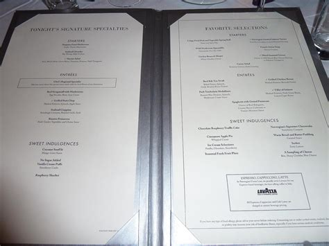 Friday: Liberty Dining Room Menu