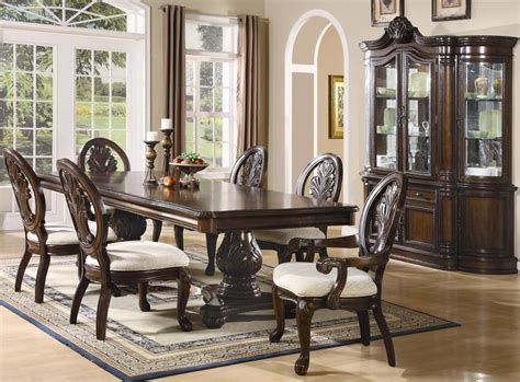 dark cherry finish formal dining room