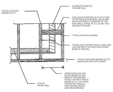 8 x 10 slant roof shed plans 8 215 10 lean to shed plans blueprints for a durable slant
