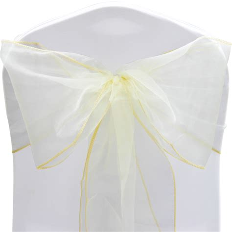 1 10 50 100 organza sashes chair cover bow sash wider fuller bows wedding ebay