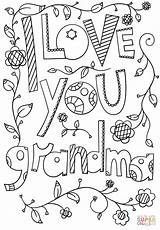Grandma Coloring Printable Grandparent Doodle Happy Mothers Mother Sheets Sheet Grandparents Granny Birthday Cards Adult Mom Printables Grandpa Drawing Supercoloring sketch template