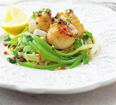 seared scallops  leeks lemon chilli butter recipe