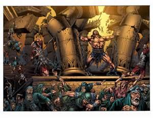 Samson Pillars Bible