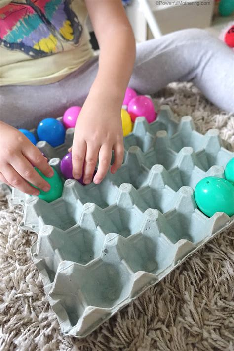 baby toddler easter eggs activity
