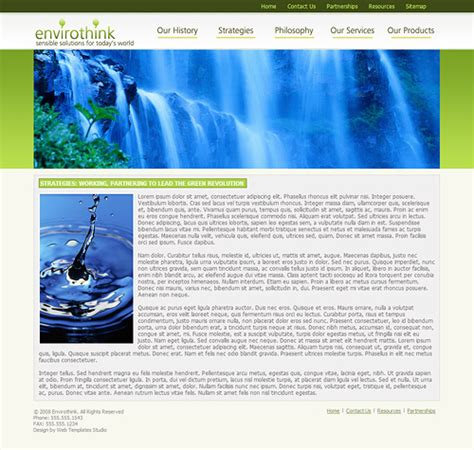 eco friendly website template eco business template environmental web template
