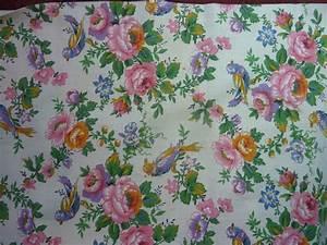 La Caverne Aux Mille Tissus : 1793 ancien tissu aux motifs d 39 oiseaux et fleuri l ~ Dode.kayakingforconservation.com Idées de Décoration