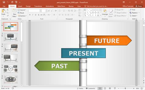 interactive  present future powerpoint template