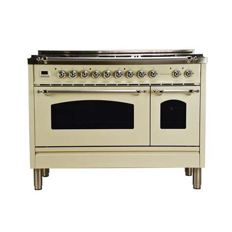 48 in. 5.0 cu. ft. Double Oven Dual Fuel Italian Range