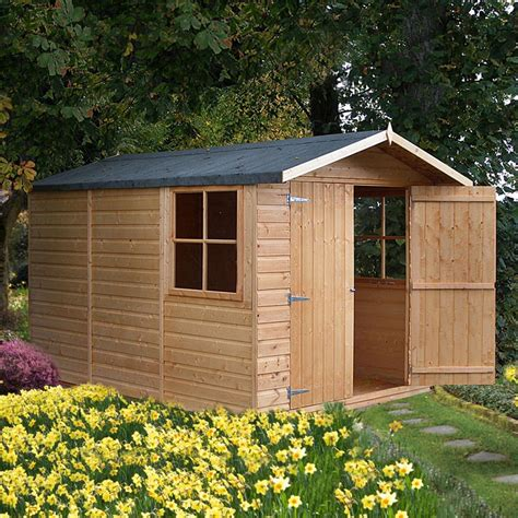 6x3 Shed Bq by 10x7 Guernsey Apex Shiplap Wooden Shed Departments Diy