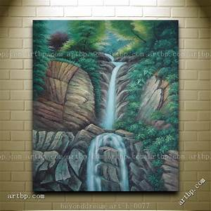 Endless-Song-Oil-Painting-Classic-Landscape-Waterfall ...
