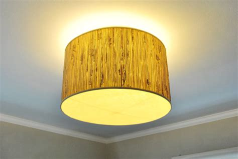 a ceiling light with a diffuser from a l shade