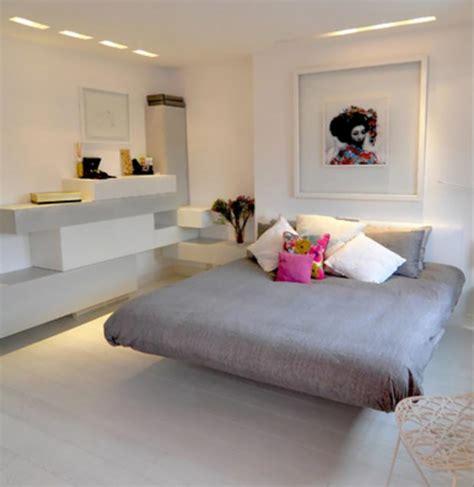 chambre en blanc murs et ameublement chambre tout en gris tendance