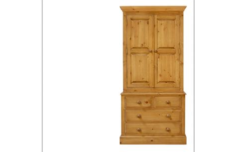 30 Inch Wide Wardrobe by Solid Pine 30 Inch Wide Gents Wardrobe With Drawers