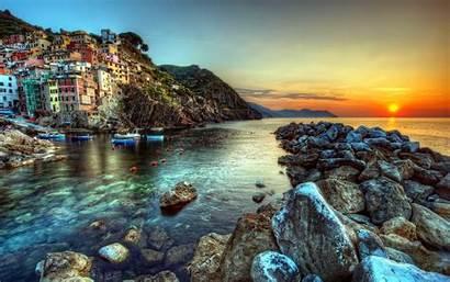 Italy Landscape Sunset Italian Landscapes Desktop Nature