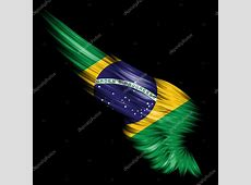 Abstract wing with Brazil flag on black background — Stock