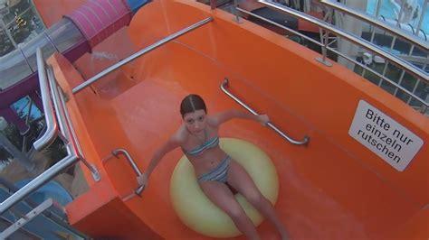 weird boomerang water   aqualand koeln youtube