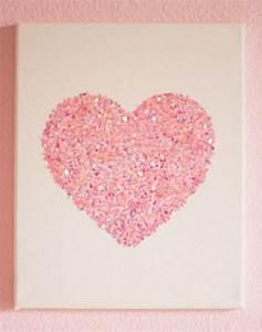 Diy easy glitter wall art ideas