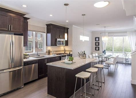 one wall kitchen cabinets one wall hardwood floors flush kitchen island flat panel 3687