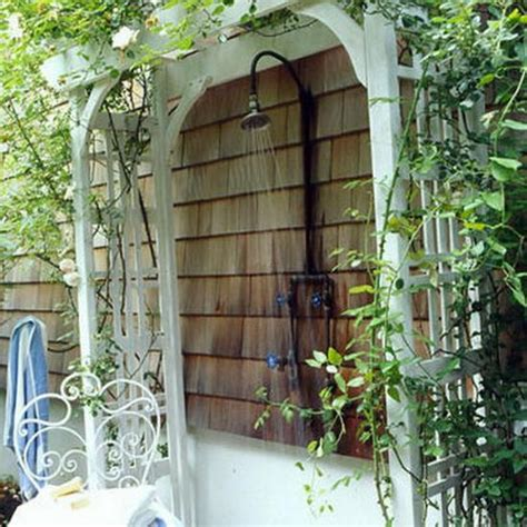 design ideas  wooden  metal outdoor shower enclosures