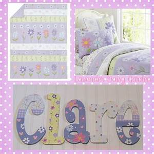 daisy garden lavender hand painted wooden nursery letters With painted letters for nursery