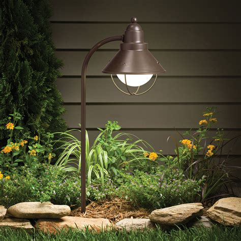 olde bronze line voltage one light landscape path light