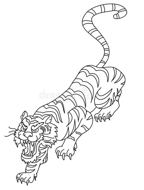 Japanese Tiger Tattoo Design Vector Stock Vector - Illustration of asian, graphic: 99549012