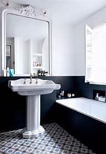 Salle De Bain Noire Et Blanche : salle de bain noire et blanche nos plus belles ~ Melissatoandfro.com Idées de Décoration