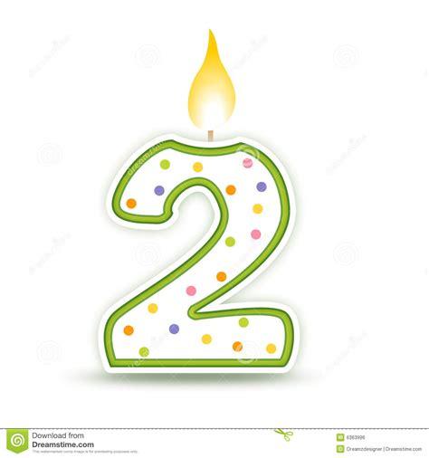 bougie d anniversaire 2 illustration de vecteur image du confettis 6363996