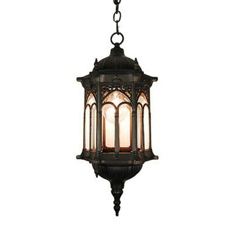 Hanging Porch Light Fixtures by Tp Outdoor Ceiling Light Lighting Black Finished Hanging
