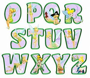 printable tinkerbell letters o z lavender decoracion With tinkerbell letters