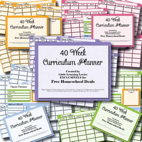 homeschooling preschoolers free curriculum free printable 40 week homeschool curriculum planner 245