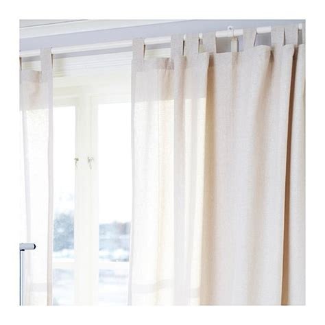 Ikea Lenda Curtains Beige by At Home When Im With You No Sew Curtain Conversion