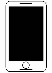Clipart - Animated Smart Phone Black And White - Free ...