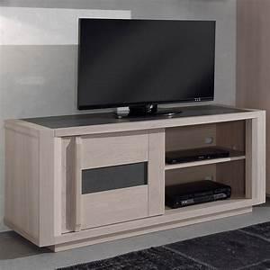 Tele Couleur France : meuble tv bois clair et gris moderne nouvo meuble ~ Melissatoandfro.com Idées de Décoration