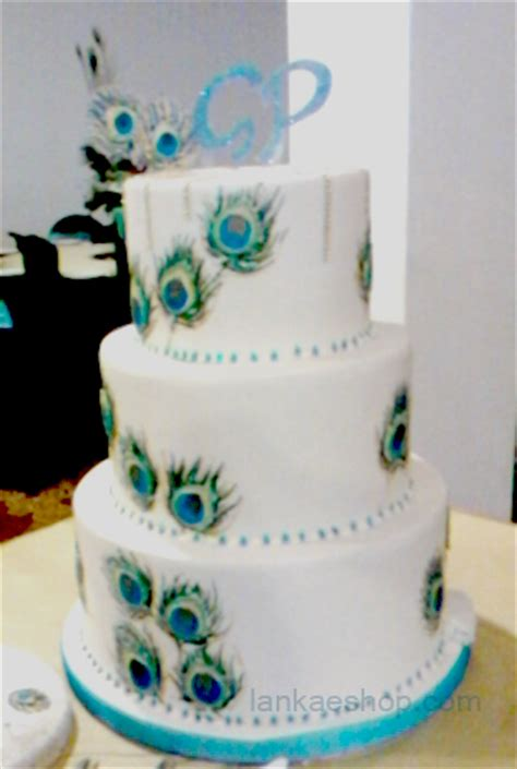 tier peacock theme wedding cake sri lanka