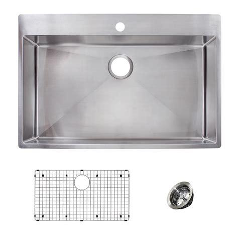 dual mount stainless steel kitchen sink franke vector all in one dual mount stainless steel 33 in 9628