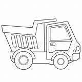 Construction Coloring Colorazione Pagina Truck Outline Dump Vehicles Cartoon Veicoli Costruzione Bambini Libro Dei Lorry Carrello Caminhao Cartoni Animati Struttura sketch template