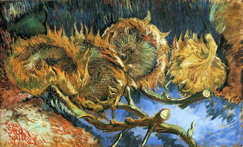 Still Life With Four Sunflowers 1887 Vincent Van Gogh