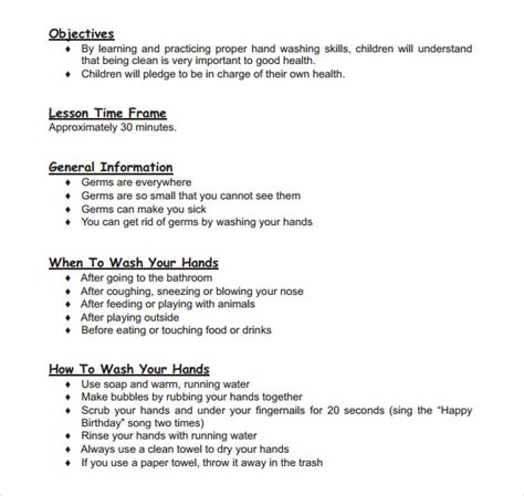 sample toddler lesson plan template   documents