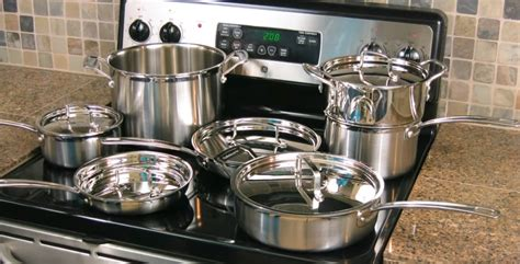 cookware glass stoves steel cuisinart pots pans stove sets stainless kitchen piece multiclad pro gas ceramic most