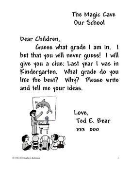 write  friendly letter kindergarten st