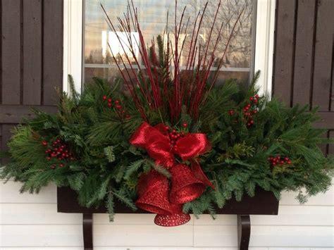 christmas window boxes garden gates pinterest