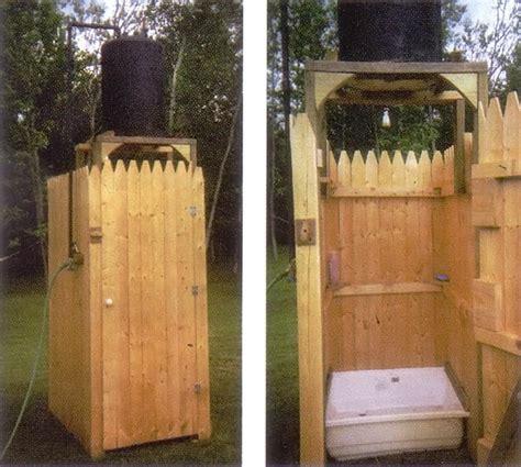 Diy Outdoor Solar Shower  Home Design, Garden
