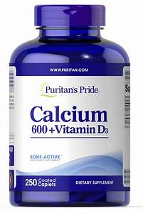 Calcium Carbonate 600 Mg  With Vitamin D 250 Tablets