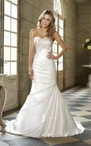 sleeveless wedding dresses sweetheart strapless trumpet side draped ruched wedding dress ideal weddings