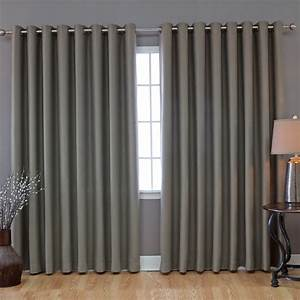 Modern light grey grommet top curtain for living room idea for Modern curtains for grey living room