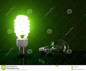 Energy Saving Light Bulb Stock Illustration Illustration