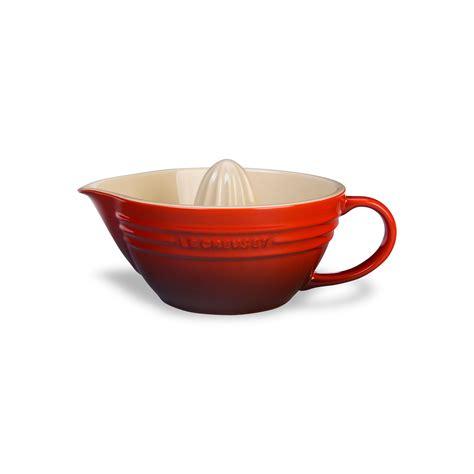 le creuset stoneware citrus juicer oz cherry red cutlery