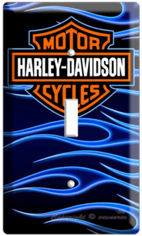 harley davidson emblem single light switch cover plate vesnarex
