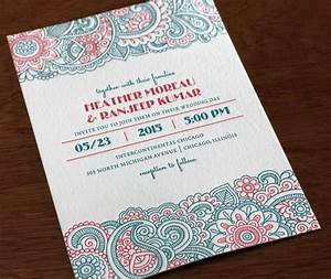 modern and bright the new 2015 letterpress design With modern indian wedding invitations wordings